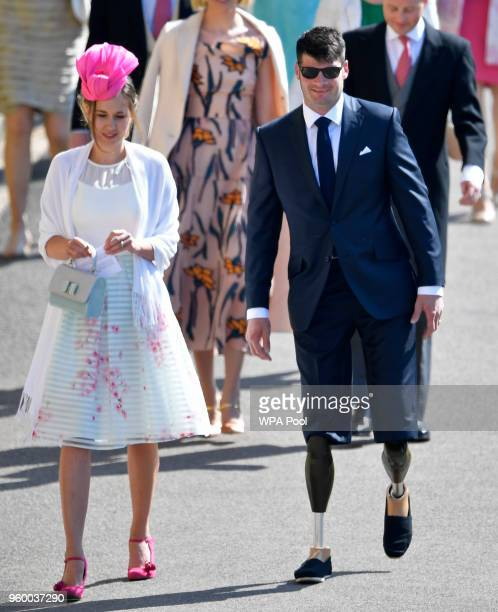 Dave Henson British parasport athlete arrives at St George's Chapel at Windsor Castle before the wedding of Prince Harry to Meghan Markle on May 19...