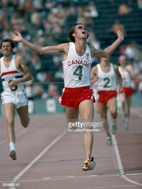 Dave Hill of Canada winning the men's 1500 metres event during an athletics meet at Crystal Palace in London on 4th July 1976