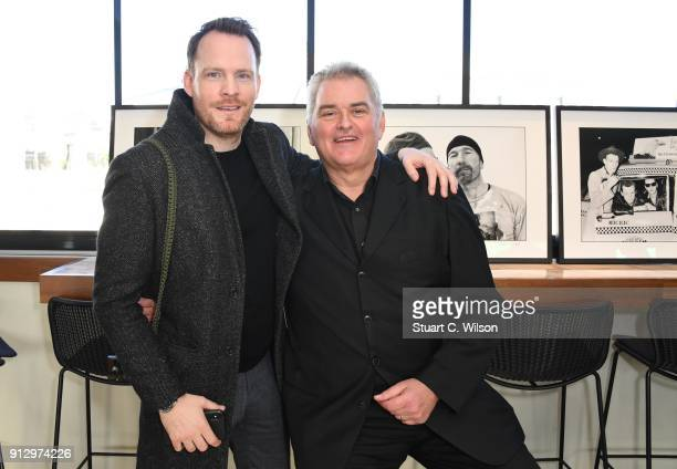 Dave Hogan and Gareth Cattermole attend 'Hogie's Heroes' Charity Exhibition at the Trafalgar St James Hotel on February 1 2018 in London England