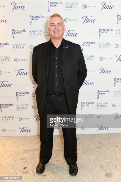 Dave Hogan, artist and celebrity photographer, attends TIME, an exclusive charity showcase in support of Pancreatic Cancer UK at a pop-up gallery on...