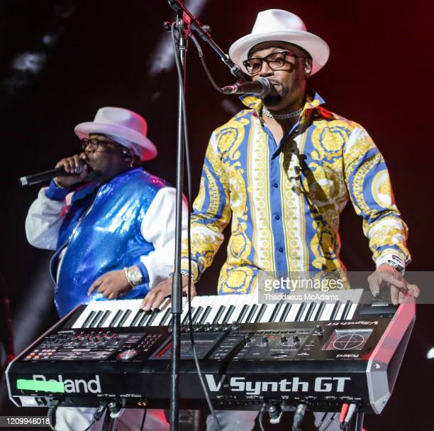 Dave Hollister and Teddy Riley perform as part of the RnB Rewind concert at Bridgestone Arena on February 28 2020 in Nashville Tennessee