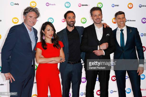 Dave Hughes Melissa Leong Andy Allen Jock Zonfrillo and Osher Günsberg pose during the Network 10 Melbourne Upfronts 2020 on October 11 2019 in...