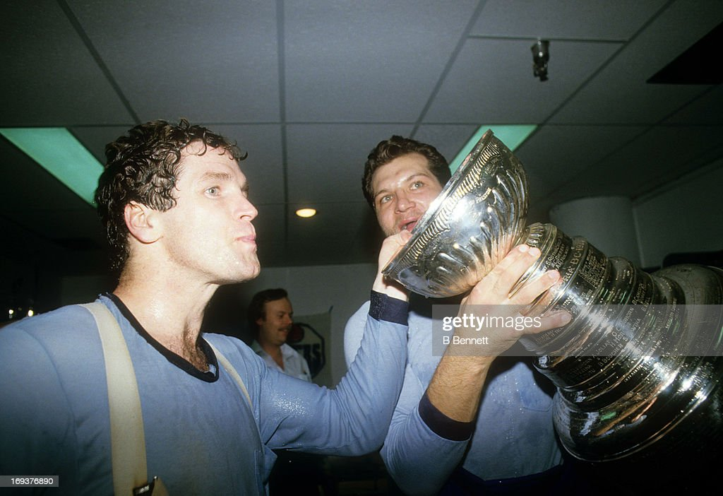 1984 Stanley Cup Finals - Game 5:  New York Islanders v Edmonton Oilers : News Photo
