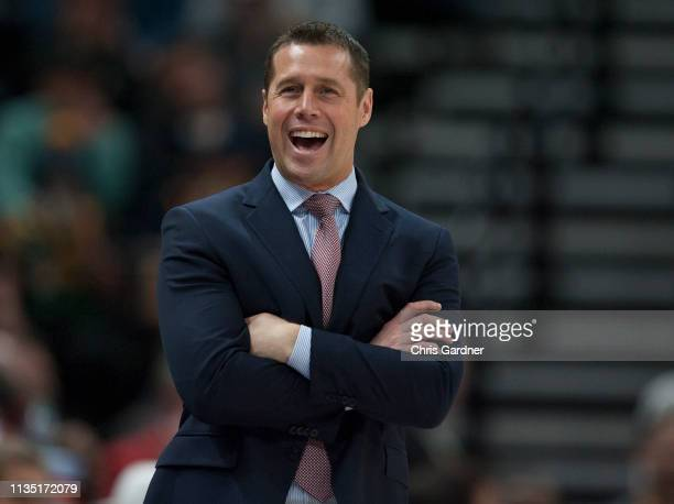 Dave Joerger head coach of the Sacramento Kings reacts to an officials call during their game against the Utah Jazz at the Vivint Smart Home Arena...