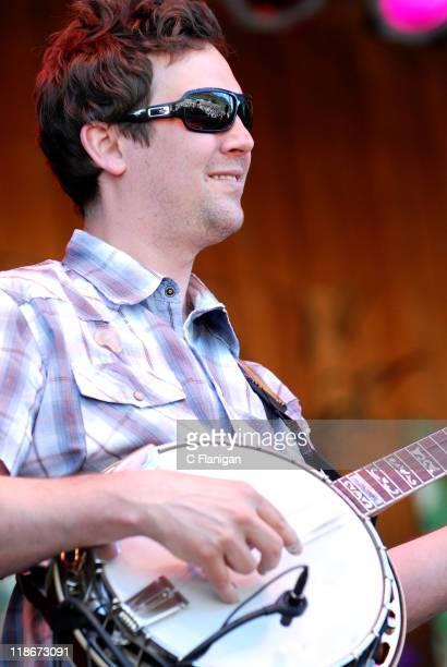 Dave Johnston of Yonder Mountain String Band during The 34th Annual Telluride Bluegrass Festival Day 2 Yonder Mountain String Band at Town Park in...