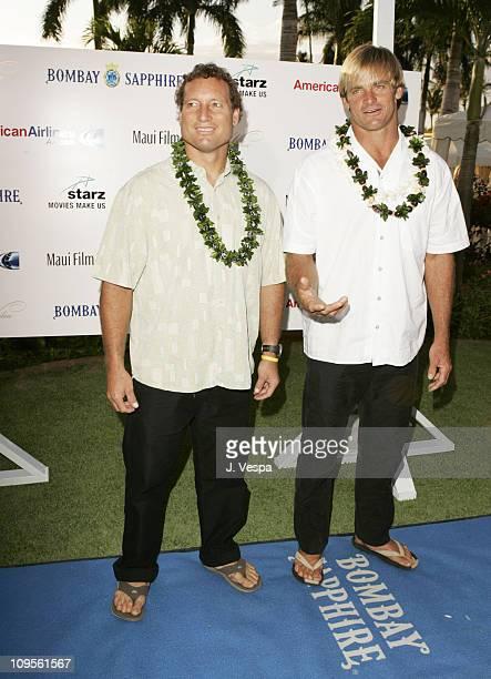 Dave Kalama and Laird Hamilton during 2005 Maui Film Festival - Tribute to Laird Hamilton and Dave Kalama at Marriott Wailea in Maui, Hawaii, United...