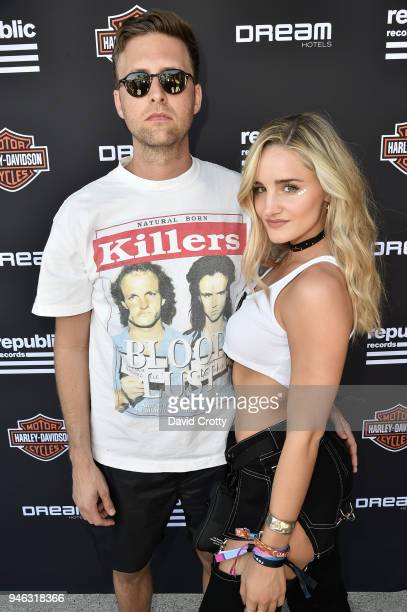 Dave Kaplan and Emily Palos attend Republic Records and Dream Hotels Present 'The Estate' at Zenyara on April 14 2018 in Coachella California