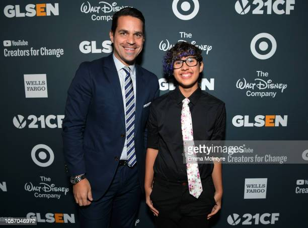 Dave Karger and Kian TortorelloAllen attend the GLSEN Respect Awards at the Beverly Wilshire Four Seasons Hotel on October 19 2018 in Beverly Hills...