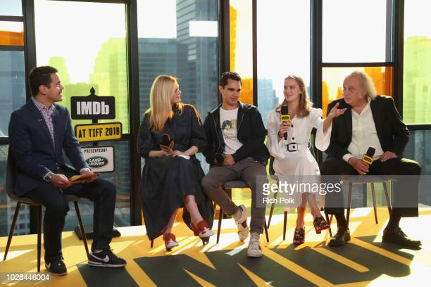 Dave Karger Elle Fanning director Max Minghella Clara Rugaard and Zlatko Buric attend The IMDb Studio presented By Land Rover At The 2018 Toronto...