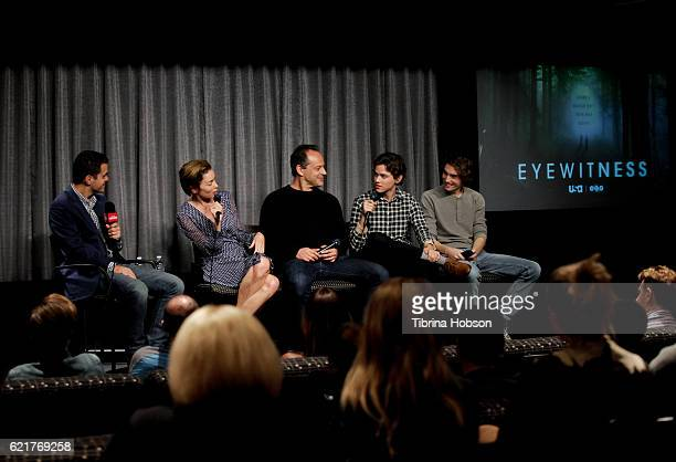 Dave Karger Julianne Nicholson Gil Bellows Tyler Young and James Paxton attend SAGAFTRA Foundation's Conversations with the cast of 'Eyewitness' at...