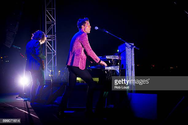 Dave Keuning and Brandon Flowers of The Killers performs at Snowmass on September 3, 2016 in Aspen, Colorado.