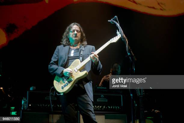 Dave Kilminster of Roger Waters Band performs on stage during the first date of Us Them European Tour at Palau Sant Jordi on April 13 2018 in...