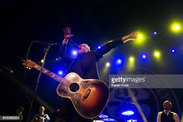 Dave King and Bob Schmidt of Flogging Molly perofms at the Olympia Theatre on September 10 2017 in Dublin Ireland