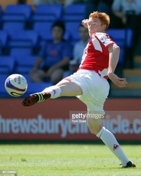 Dave Kitson of Stoke City in action during pre season friendly match between Shrewsbury Town and Stoke City at The Prostar Stadium on August 02 2008...