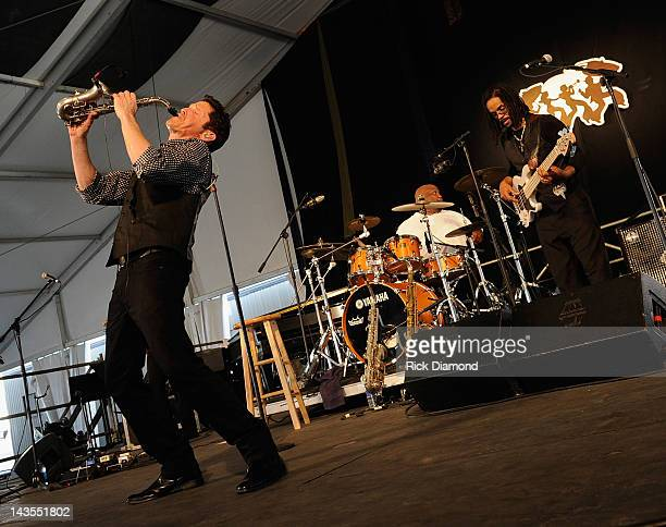 Dave Koz performs during the 2012 New Orleans Jazz & Heritage Festival Day 2 at the Fair Grounds Race Course on April 28, 2012 in New Orleans,...