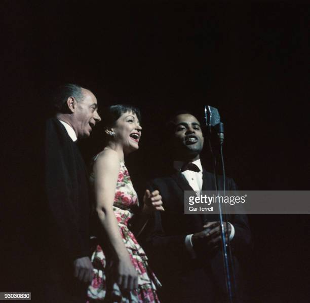 Dave Lambert Annie Ross and Jon Hendricks perform on stage in the 1960's