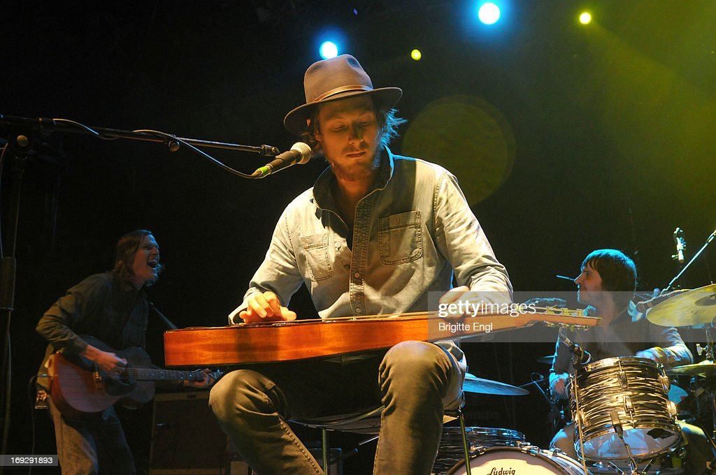 Dave Lang, Scott Stanton and Chris Peterson of Current Swell perform on stage at KOKO on May 22, 2013 in London, England.