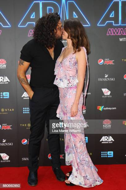Dave Le'aupepe and Cort Bray arrive for the 31st Annual ARIA Awards 2017 at The Star on November 28 2017 in Sydney Australia