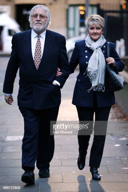 Dave Lee Travis arrives at Southwark Crown Court with his wife Marianne Griffin on February 13 2014 in London England Dave Lee Travis whose real name...