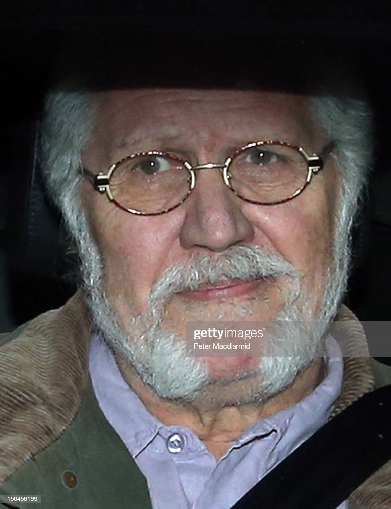 Dave Lee Travis arrives home after leaving Aylesbury police station on November 15, 2012 near Leighton Buzzard, England. Police say that they have arrested a man in his 60s as part of an investigation into allegations of sexual abuse by broadcaster Jimmy Savile.