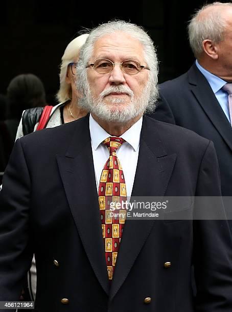 Dave Lee Travis attends court for sentencing for indecent assasult at Southwark Crown Court on September 26 2014 in London England