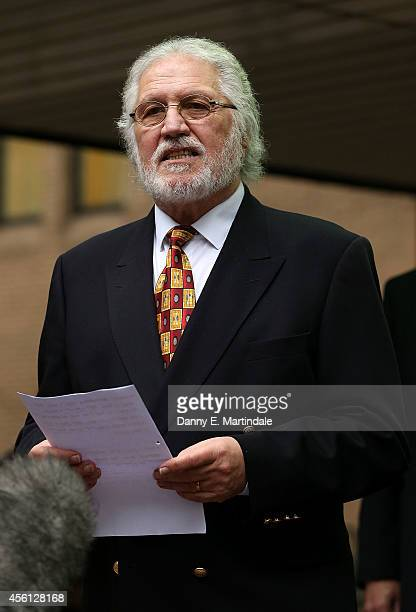 Dave Lee Travis leaves court after being handed a three month suspended sentence for indecent assasult at Southwark Crown Court on September 26 2014...