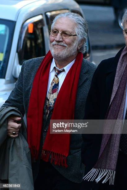 Dave Lee Travis sighted arriving at Southwark Crown Court on January 13 2014 in London England