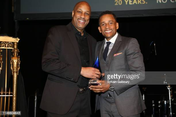 Dave Levy and Hill Harper attend ICMEC Gala for Child Protection at Gotham Hall on May 02, 2019 in New York City.