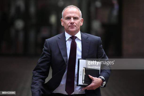 Dave Lewis chief executive officer of Tesco Plc departs Southwark Crown Court in London UK on Thursday Nov 2 2017 A senior Tesco Plc...