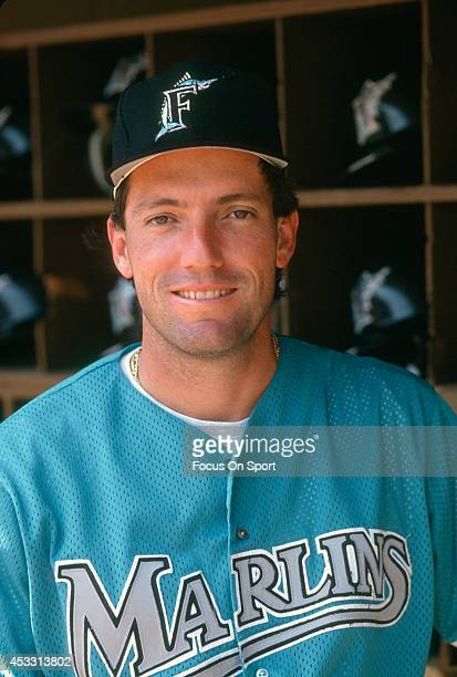 Dave Magadan of the Florida Marlins looks into the camera and smiles prior to the start of a Major League Baseball game against the New York Mets...
