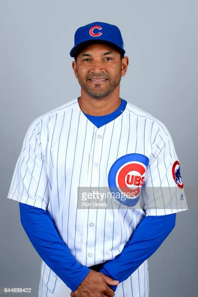 Dave Martinez of the Chicago Cubs poses during Photo Day on Tuesday February 21 2017 at Sloan Park in Mesa Arizona