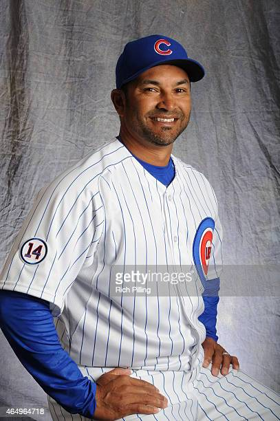 Dave Martinez of the Chicago Cubs poses for a portrait during Photo Day on March 2 2015 at Sloan Park in Mesa Arizona