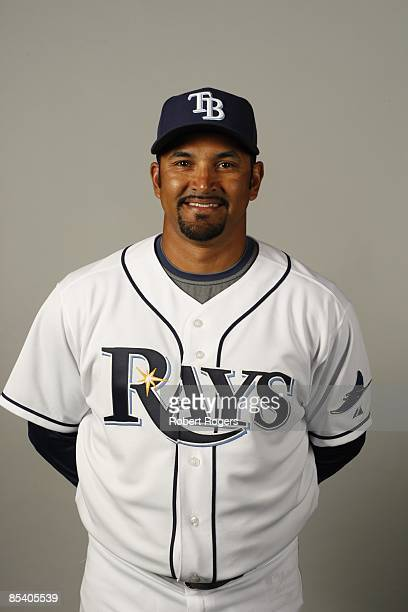 Dave Martinez of the Tampa Bay Rays poses during Photo Day on Friday February 20 2009 at Charlotte County Sports Park in Port Charlotte Florida