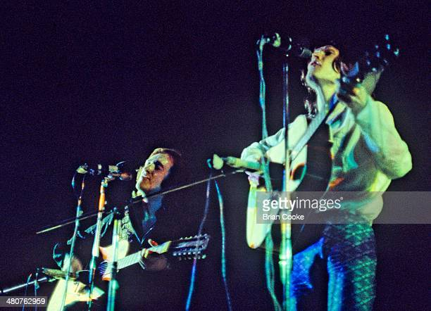 Dave Mason and Steve Winwood of Traffic performing at The Fairfields Hall Croydon on the 6th June 1971 while recording their live album Welcome To...