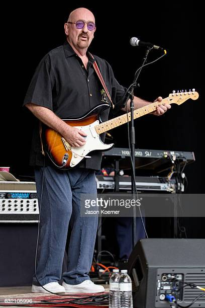 Dave Mason performs on stage at Mizner Park Amphitheater on January 15 2017 in Boca Raton Florida