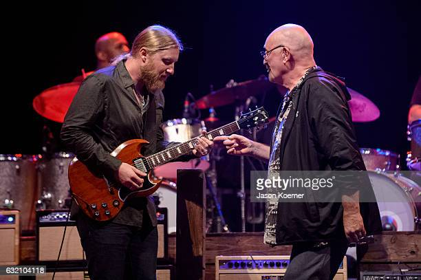Dave Mason sits in with the Tedeschi Trucks Band at Mizner Park Amphitheater on January 15 2017 in Boca Raton Florida