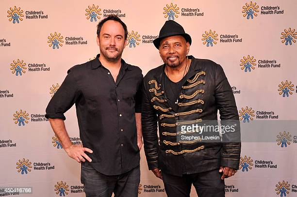Dave Matthews and Aaron Neville attend the 2014 Children's Health Fund annual gala on June 9 2014 in New York City
