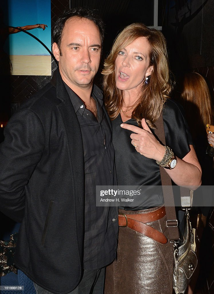 Dave Matthews and Allison Janney attend The Cinema Society with The Hollywood Reporter & Samsung Galaxy S III host a screening of 'The Oranges' After Party at Jimmy's at James Hotel on September 14, 2012 in New York City.