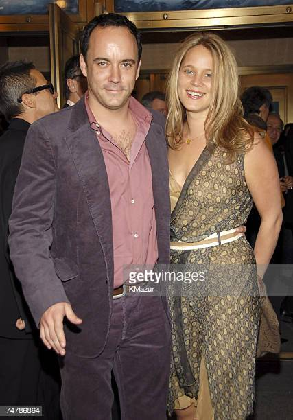 Dave Matthews and Ashley Harper at the Bernard B Jacobs Theatre in New York City New York