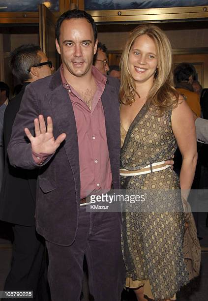 Dave Matthews and Ashley Harper during Three Days of Rain Broadway Opening Night Arrivals at Bernard B Jacobs Theatre in New York City New York...