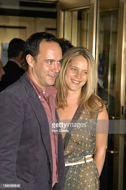 Dave Matthews and Ashley Harper during 'Three Days of Rain' Broadway Opening Night Arrivals at Bernard B Jacobs Theatre in New York City New York...