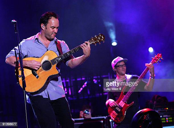 Dave Matthews and Stefan Lessard of the Dave Matthews Band perform on day 2 of the Austin City Limits Music Festival at Zilker Park on October 3,...