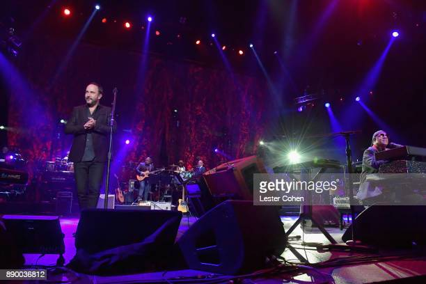 Dave Matthews and Stevie Wonder perform onstage during Stevie's 21st Annual House Full of Toys Benefit Concert at Staples Center on December 10 2017...