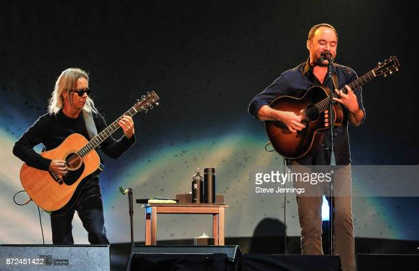 Dave Matthews and Tim Reynolds perform at Band Together Bay Area A Benefit Concert for North Bay Fire Relief at ATT Park on November 9 2017 in San...