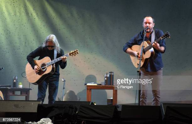 Dave Matthews and Tim Reynolds perform during the Band Together Bay Area Benefit Concert at ATT Park on November 9 2017 in San Francisco California