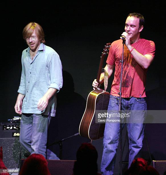 Dave Matthews and Trey Anastasio during From the Big Apple to the Big Easy Radio City Music Hall Show at Radio City Music Hall in New York City New...