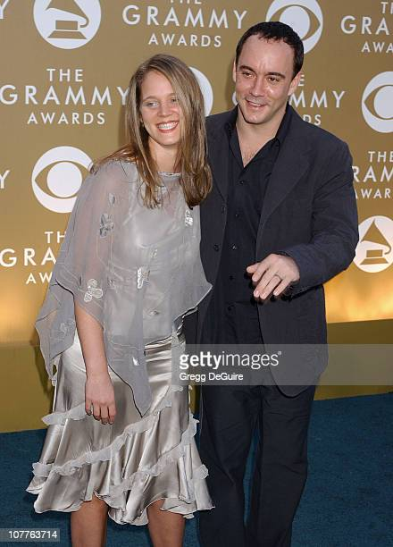 Dave Matthews and wife Ashley during The 46th Annual GRAMMY Awards Arrivals at Staples Center in Los Angeles California United States