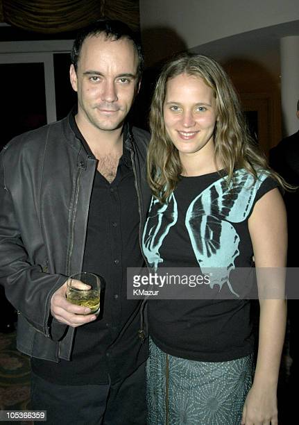 Dave Matthews and wife during 2004 Clive Davis PreGrammy Party Backstage and Audience at Beverly Hills Hotel in Beverly Hills California United States