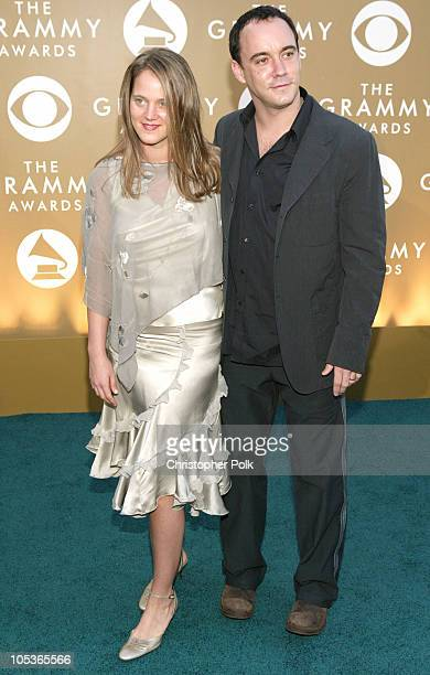 Dave Matthews and wife during The 46th Annual Grammy Awards Arrivals at Staples Center in Los Angeles California United States