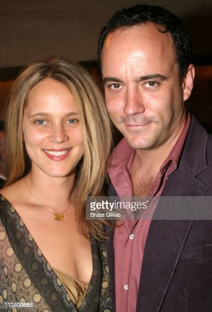 Dave Matthews and wife during Three Days of Rain Broadway Opening Night Arrivals at Bernard B Jacobs Theatre in New York City New York United States
